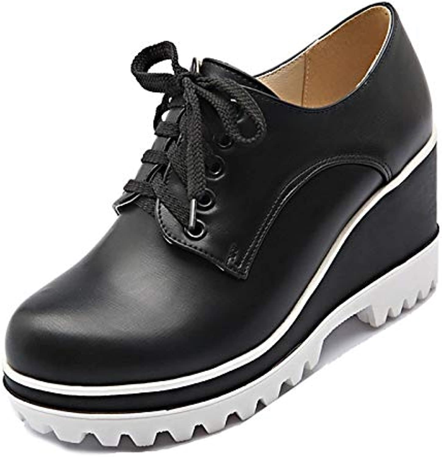 Women's shoes PU(Polyurethane) Fall Comfort Sneakers Creepers White Black   Red