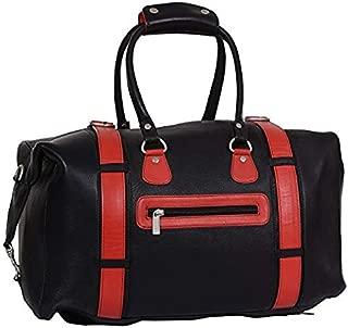 Unisex 100% Pure Genuine Nappa Leather Duffel Gym Bag Sports Bag pack Outdoor Travel Handbag, Black