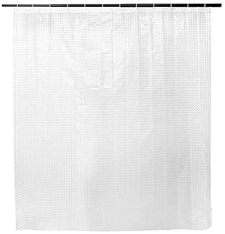 SENSEA - Cube Duschvorhang - PEVA Transparent - Durchsichtig - Wasserdicht Schimmelresistent -B.180 x H.200 cm - 3D-Würfelmuster