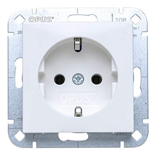 OPUS® 55 Schutzkontakt-Steckdose premium ohne Berührungsschutz Farbe polarweiß