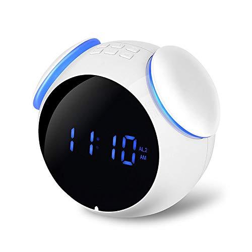 CMMWA Bocina Bluetooth Portatil Reloj Despertador Radio-Reloj Digital for el hogar y la Cocina de Alarma de Reloj con Bluetooth y USB también for el Altavoz móvil, Smart MP3 Altavoz de subgraves