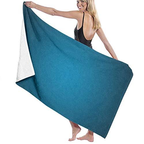 LREFON Toallas Azul Marino Turquesa Ultra Suave Sin Arena para la Ducha,Toallas de baño, Fitness, Deportes al Aire Libre