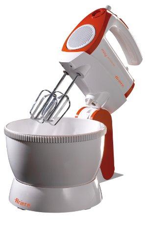 Ariete-15651-Mixy-Elektrisches-Handrhrgert-2-Set-von-Schneebesen-fr-Montage-und-Knethaken-5-Geschwindigkeiten-Turbo-400-W-Kunststoff-orange-Plastik-rotwei