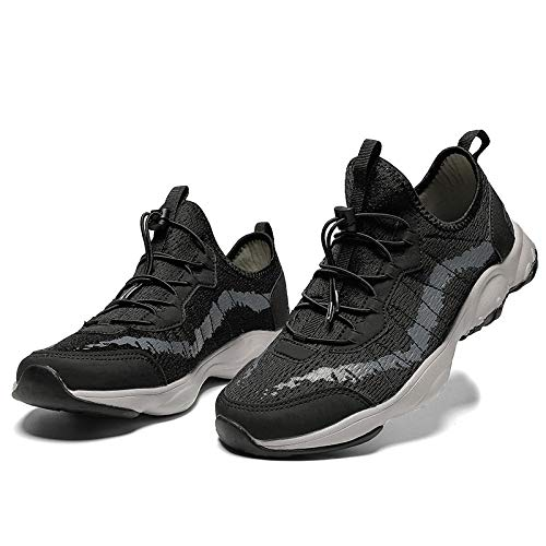 Aerlan Men's and Women's Sports Shoes,Zapatillas con Suela pisada,Zapatos de Senderismo Transpirables Zapatos de Exterior Calzado Deportivo Zapatos de Senderismo Antideslizantes-Black_37#