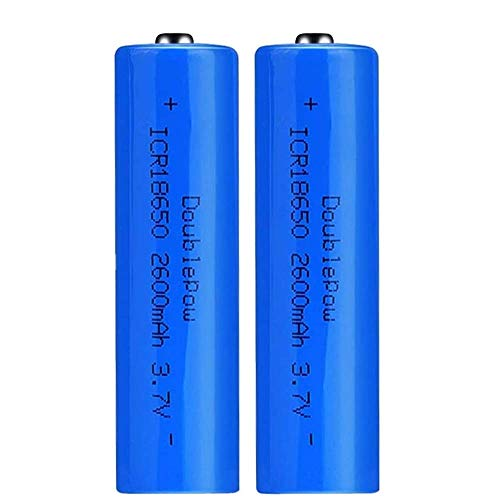 18650 Battery, 3.7V 2600mAh Rechargable AA Batteries, Apex Charger Batteries Explosion Proof Leak Proof Rechargeable Lithium Battery for LED Flashlight Headlamp Torch Power Bank - 2 PCS(2600mAh (Apex)