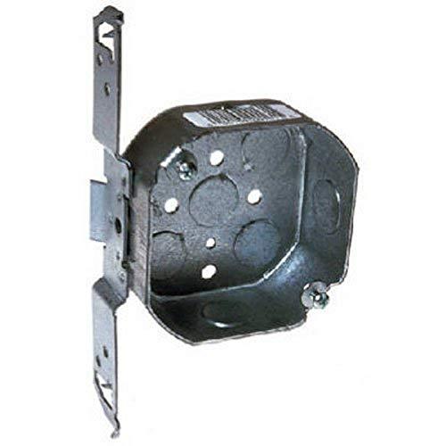 hubbell-raco 1611–1/2-inch profundidad, 1/2-inch lado Knockouts, madera/metal de soporte (caja de octagon