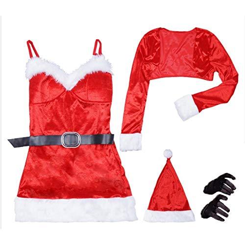 Super Comfort Weihnachtskleid, Roter Weihnachtsmann Kostüm, Weihnachtsmann BH Und Strumpfband Set, Weihnachts Dessous, Outfit Weihnachtskostüm Mit Hut