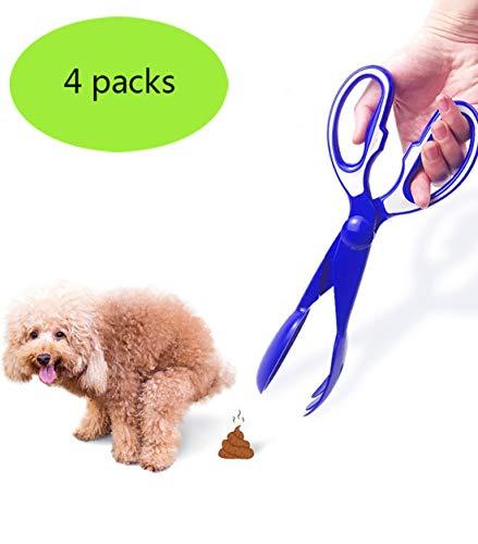Gmjay Pet Pooper Scooper Ciseaux Déchets de Ramassage des Ordures Ménagères pour Chien Portable et Robuste,Blue