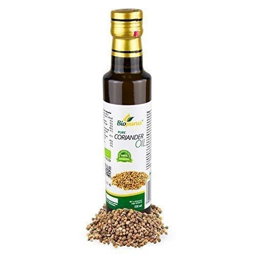 zertifiziertes Bio kaltgepresst Koriander Öl 250ml biopurus