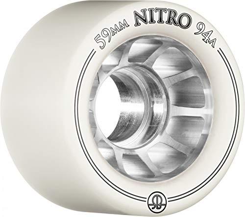 RollerBones Nitro 101A Skate Wheels - White - 59mm