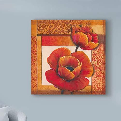 Puzzle 1000 pezzi Due fiori rossi immagine bella opera d'arte regalo di pittura puzzle 1000 pezzi paesaggi Gioco di abilità per tutta la famiglia, colorato gioco di posizionam50x75cm(20x30inch)