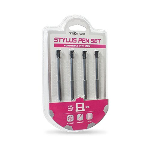 3DS Retractable Metallic Stylus Pen 4 Pack