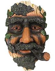 TSBB Bciou Joven árbol Cara decoración Escultura Flor Maceta decoración de Resina Impermeable