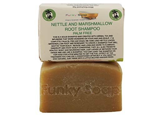 Funky Soap Handteller Frei Nettle & Marshmallow Root Shampoo bar, Ca. 120g