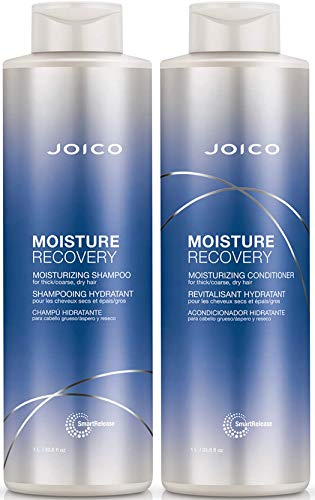 Joico Moisture Recovery Shampoo and Conditioner Set for Dry Hair , 33.8-Ounce