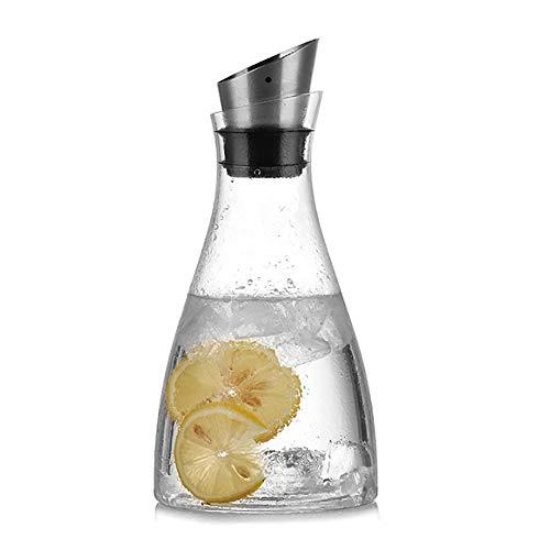 JIFOSDJE 1000ml Kaltwasserkocher, Oblique Mouth mit Deckel, geeignet for die Herstellung der Faule Schlaf Tee, blühender Tee Bälle, Schwarzer Tee, Grüner Tee