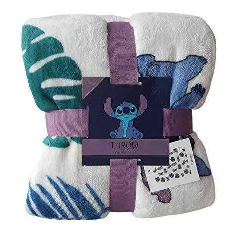 Coperta in pile super morbida da viaggio, idea regalo, motivo: Stitch, prodotto Disney con licenza ufficiale