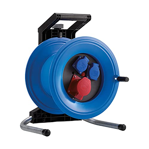 HEDI Tambor de cable vacío Professional Plus 320 (sin cable, con 1 enchufe CEE 5x16 A 400 V, 2 tomas de contacto 250 V) K3D0016T multicolor