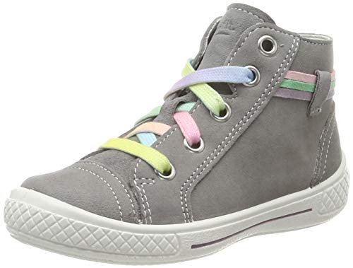 Superfit Mädchen Tensy Sneaker, Grau (Hellgrau 25), 26 EU