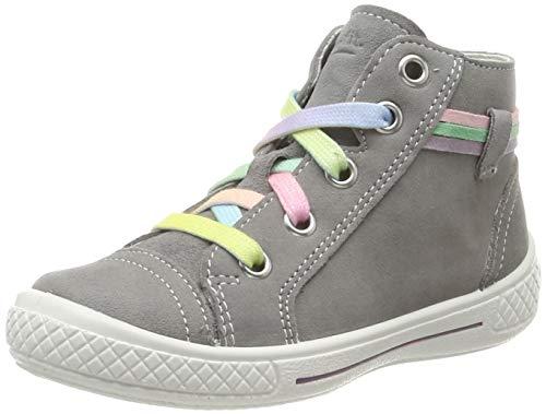 Superfit Mädchen Tensy Hohe Sneaker, Grau (Hellgrau 25), 28 EU