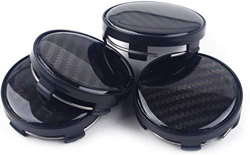 4 piezas, 60mm Tapa de buje central para rueda de coche, cubiertas con pegatinas con logotipo, molduras, accesorios para coche