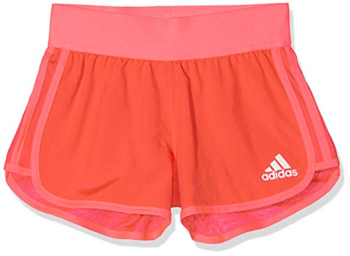 adidas Yg TR Mar SH Pantalón Corto, Niñas, Rojo, 170