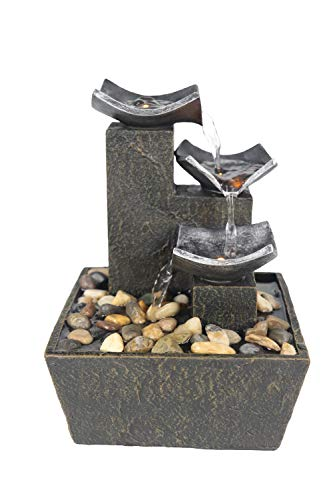 Warm Garden Relaxation Fountain Indoor Fountain Metal Like Fountains Fountain for Interior Decoration Tabletop Fountains