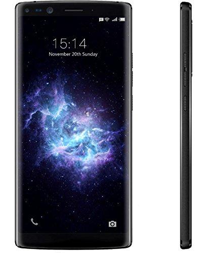 DOOGEE Mix 2-5,99 Zoll (18: 9-Verhältnis) FHD Android 4G Smartphone Gesichtserkennung, Helio P25 Octa Core 2,5 GHz 6 GB + 128 GB, Quad-Kamera (Weitwinkel) 4060mAh Batterie - Schwarz