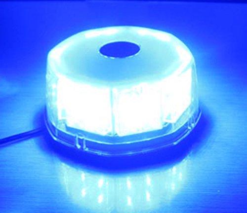 Anzene 32 LED 32W de alta potencia magnética techo intermitente emergencia policía precaución advertencia luz estroboscópica para coche camión vehículo(Azul)