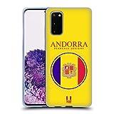 Head Case Designs Bandera De Andorra Remiendos de La Bandera Carcasa de Gel de Silicona Compatible con Samsung Galaxy S20 / S20 5G