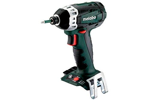 Metabo 602196850 Akku Schlagschrauber SSD 18 LTX 200 | + Gürtelhaken m. Bitdepot | Arbeitslicht / Ultra-M-Technologie / Rückschlagarm (Spannung 18 V / ohne Akkupack, ohne Ladegerät)