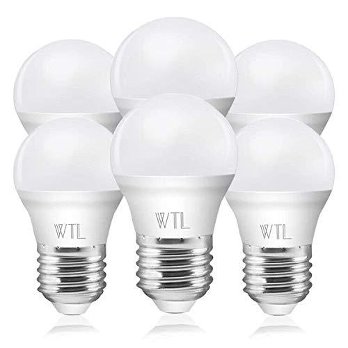 E27 LED-Lampe, 5W 400 Lumen Schraube LED-Glühbirnen, 40W Glühlampe gleichwertig, Warmweiss 3000k G45, nicht dimmbar, 6 Stück