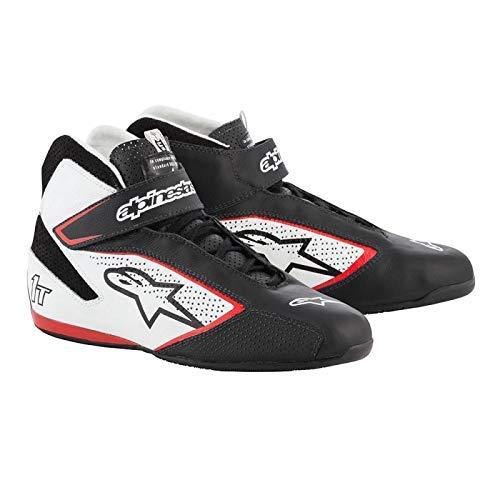 ALPINESTARS TECH 1-T Zapatos de conducción FIA - Modelo 2019 - Negro/Blanco/Rojo - Talla 10 (2710119-123-10)
