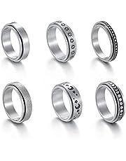 Fidget Band Ringen, 6 Stks Angst Ringen Fidget Band Ringen Meditatie Ringen Cadeau voor Vrouwen Mannen