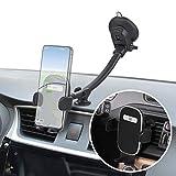 Wicked Chili Supporto per Cellulare 2in1 (Extra Lungo, Senza Vibrazioni) per Camion, furgoni, Camper, Auto, Supporto per Auto con stabilizzatore per cruscotto + Supporto per Ventilazione