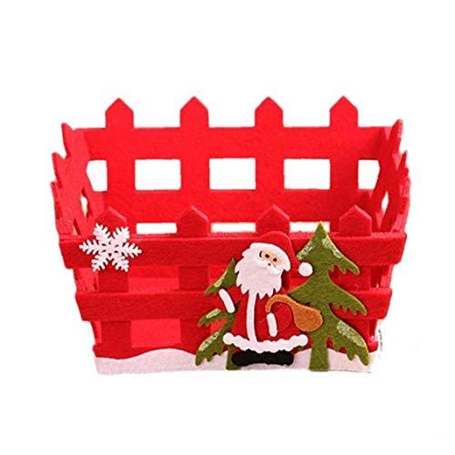 No Tejidos 1pc De La Cesta del Almacenaje De Navidad Rojo Frutas Caja De Almacenamiento De Contenedores Hueco De Chocolate De Navidad Regalos De La Decoración del Hogar