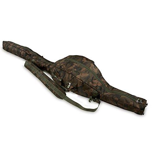 Fox Camolite Tri Sleeve 12ft Rutentasche für 3 Karpfenruten 12ft, Rutenfuttural für 2 teilige Steckruten, Tasche für Angelruten zum Karpfenangeln, Tarnfarbe