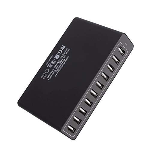 Fantastic Prices! Gowersdee 10-Port 50W USB Station Hub AC Power Fast Charge for Smartphone Tablet A...