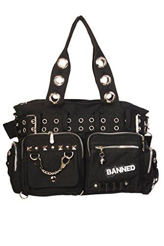Banned Gebannt Handschellen Handtasche - Black/Black/One Size