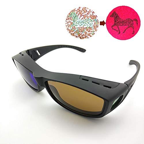 BYOUQ Gafas Daltonicos Marco De PC De Resina Gafas Correctivas Gafas 3D Anti-UV Mejora El Daltonismo Y La Debilidad del Color Mejora La Resolución La Visión del Color Hombres Mujeres