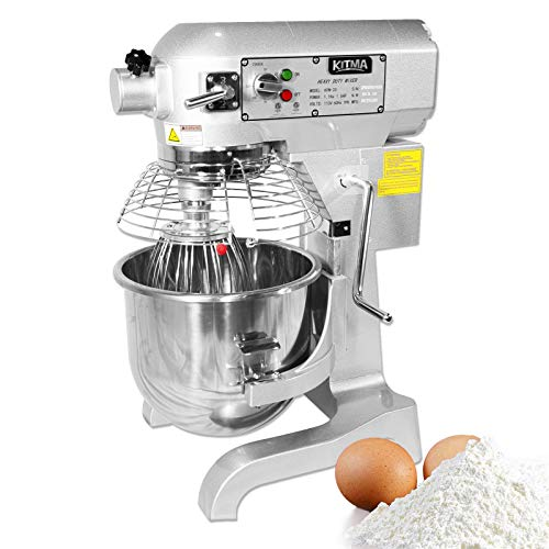 KITMA 20 Quart Heavy Duty Floor Mixer - 3 Speeds Commercial Food Mixer with Stainless Steel Bowl, Dough Hooks, Whisk, Beater
