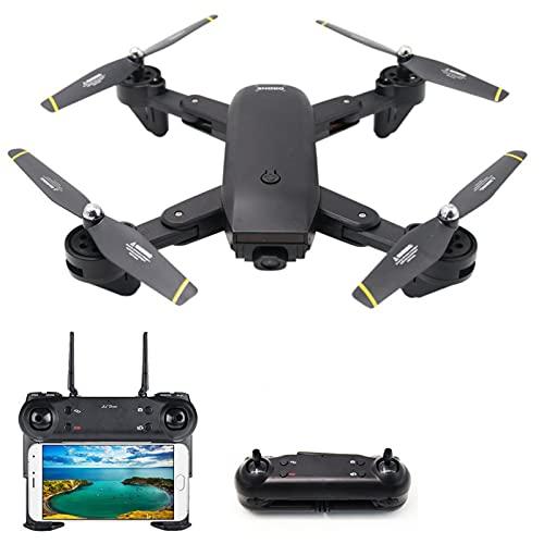 Drones con doble cámara, Quadcopter para adultos para adultos y niños Drone plegable para niños con posicionamiento de flujo óptico, Flip 3D, Modo sin cabeza, Altitud Hold, Auto Return Home
