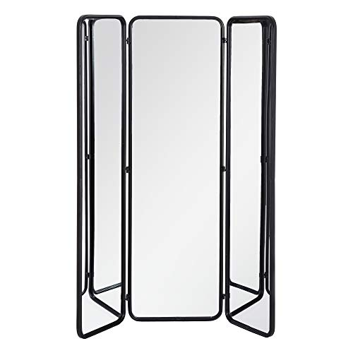 Biombo de Espejo Industrial Negro Separador de ambientes de 180x147 cm