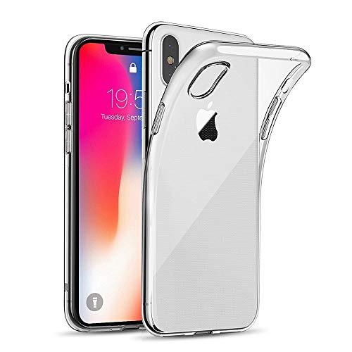 Amonke Durchsichtig Hülle Für iPhone X / iPhone XS, Silikon Transparent Handyhülle für iPhone 10 - Ultra Dünn Crystal Clear TPU Case Bumper Backcover Schutzhülle für iPhone X/XS