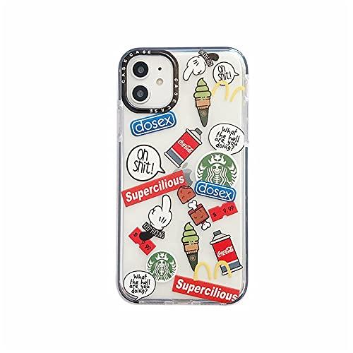 DingHome Cáscara de teléfono móvil Caliente para Manzana 12 Funda de teléfono Soft Shell iPhone7 / 8 / X/XR Defensa de Anime (Color : 10, Size : IPhone11)
