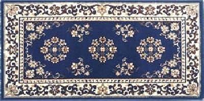Amazon Com 22 X 44 Blue Oriental Virgin Wool Hearth Rug Furniture Decor