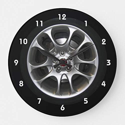 None Brand Radkappen-Uhr mit Zahlen