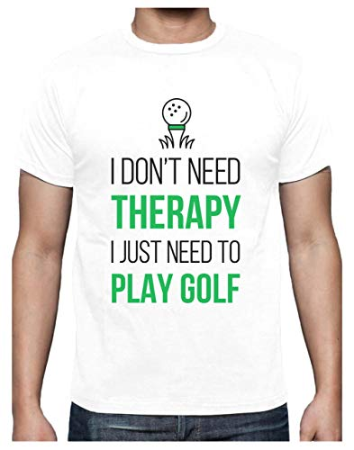 Camiseta para Hombre - Regalos para Golfistas - Golf Therapy Large Blanco