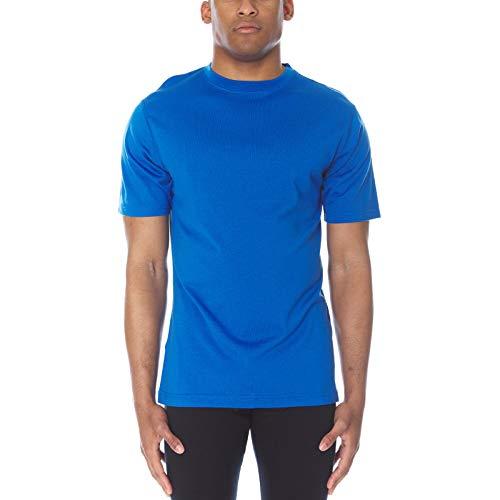 Minus33 Merino Wool 703 Algonquin Men's Lightweight Short Sleeve Crew Azure Blue Small