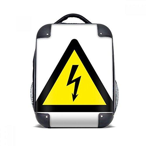 DIYthinker Símbolo de aviso Negro Amarillo descarga eléctrica Caso duro Triángulo de...